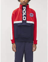 Polo Ralph Lauren Logo concealed hood cotton-blend jersey sweatshirt