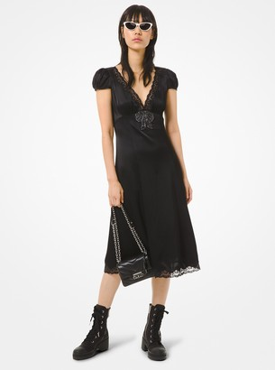 MICHAEL Michael Kors Embellished Charmeuse Dress