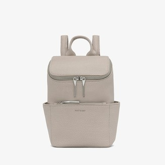 Matt & Nat Brave Mini Dwell Backpack - Koala Matte Nickel