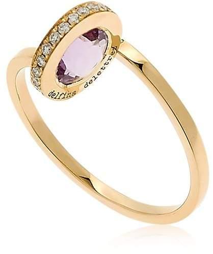 Delfina Delettrez Seal Gold Amethyst Ring