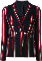 Tagliatore stripe print blazer