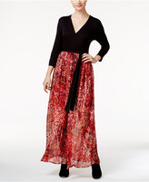 ECI Belted Printed Maxi Dress