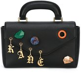 Christopher Kane Devine stone charm shoulder bag - women - Calf Leather - One Size