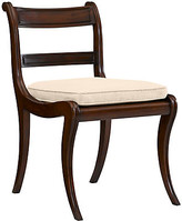 Ralph Lauren Home Alastair Side Chair frame, medium mahogany; upholstery, spice