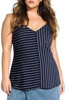 City Chic Double Stripe Tank Top
