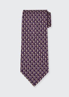 Salvatore Ferragamo Men's 4 Maxi Patterned Tie