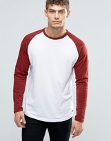 Jack and Jones Long Sleeve T-Shirt with Raglan Sleeves