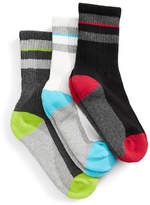 Jack & Jill 3 Pack Striped Cuff Crew Socks