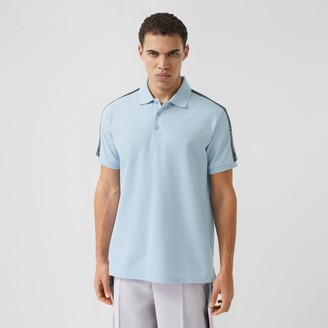 Burberry Logo Tape Cotton Pique Polo Shirt