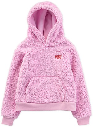 Levi's Girls 7-16 Sherpa Batwing Pullover Hoodie