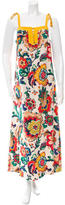 Tory Burch Floral Printed Sleeveless Maxi dress