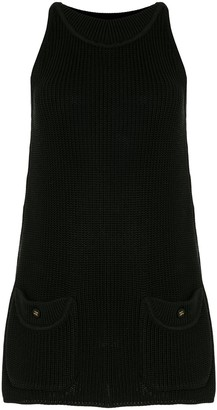 Chanel Pre Owned 1996 Ribbed Knitted Dress