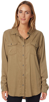 Rusty Perspective Womens Long Sleeve Shirt Green