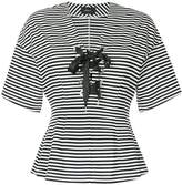 G.V.G.V. striped lace up top