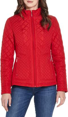 Weatherproof Quilted Moto Jacket