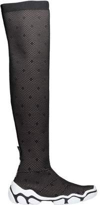 RED Valentino Polka Dot Mesh Sock Boots