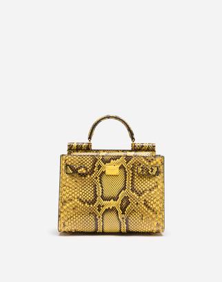 Dolce & Gabbana Sicily 62 Small Bag In Python Skin