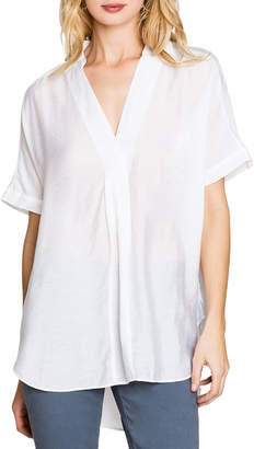 Nic+Zoe Waterfront V-Neck Short-Sleeve Collared Top