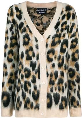 Moschino leopard print cardigan