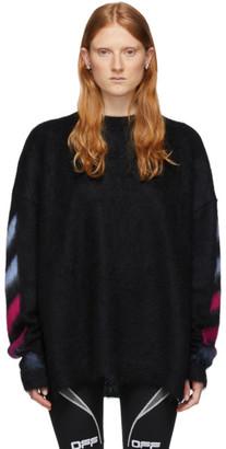 Off-White Black Mohair Melange Sweater