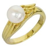 Mikimoto 18K Yellow Gold Pearl Design Ring