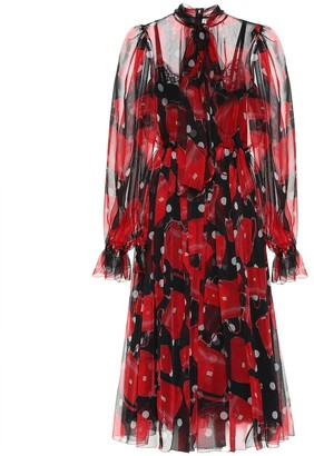 Dolce & Gabbana Printed silk midi dress