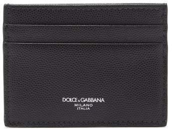 410747421595 Pebbled Leather Cardholder - Mens - Black