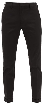Paul Smith Slim-fit Cotton-blend Twill Chino Trousers - Black
