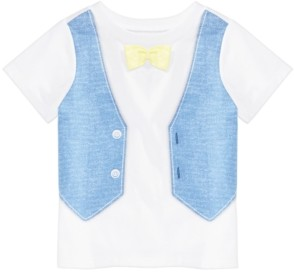 First Impressions Toddler Boys Faux Vest Cotton T-Shirt, Created for Macy's