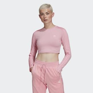 adidas LOUNGEWEAR Cropped Long Sleeve Sweater