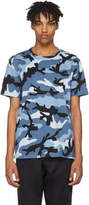 Valentino Blue New Camo T-Shirt