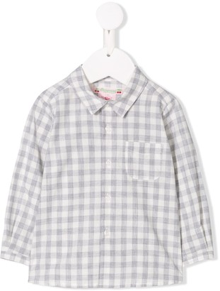 Bonpoint checked print shirt
