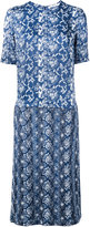 Julien David printed denim dress - women - Silk/Cotton - M