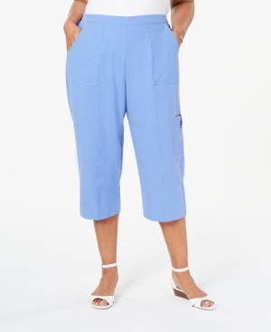 Alfred Dunner Plus Size The Summer Wind Cotton Cargo Capris