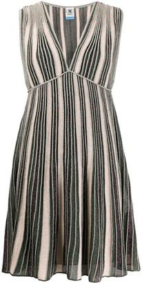 M Missoni metallic-striped mini dress