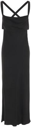 Mason by Michelle Mason Draped Cutout Crepe Midi Dress