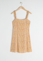 And other stories Ruffle Strap Mini Dress