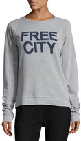 Freecity Str8up Raglan Sweatshirt, Gray/Blue