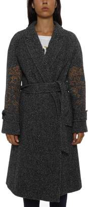 Moschino Belted Wrapped Coat