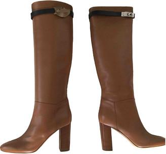 Hermã ̈S HermAs Jumping Brown Leather Boots