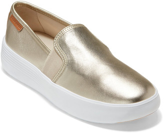 Cole Haan Grand Crosscourt Flatform Leather Slip-On