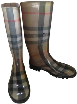 Burberry Camel Rubber Boots
