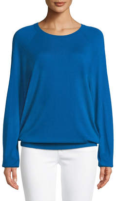 Michael Kors Round-Neck Long-Sleeve Merino/Cashmere Pullover