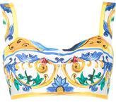 Dolce & Gabbana Majolica print bralet top