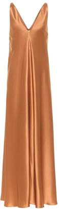 Co Silk charmeuse maxi dress