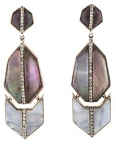 Kara Ross Blue Lace Agate, Amethyst Doublet & Sapphire Drop Earrings