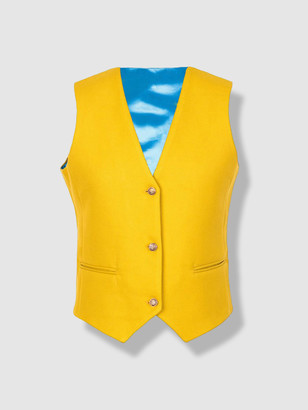 L2r The Label V2 | Wool Vest in Yellow