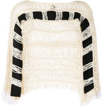 Pierantonio Gaspari Woven Knit Fringe Top