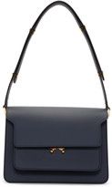 Marni Navy Medium Trunk Bag
