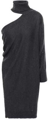 Brunello Cucinelli Cutout Draped Cashmere And Silk-blend Mini Dress